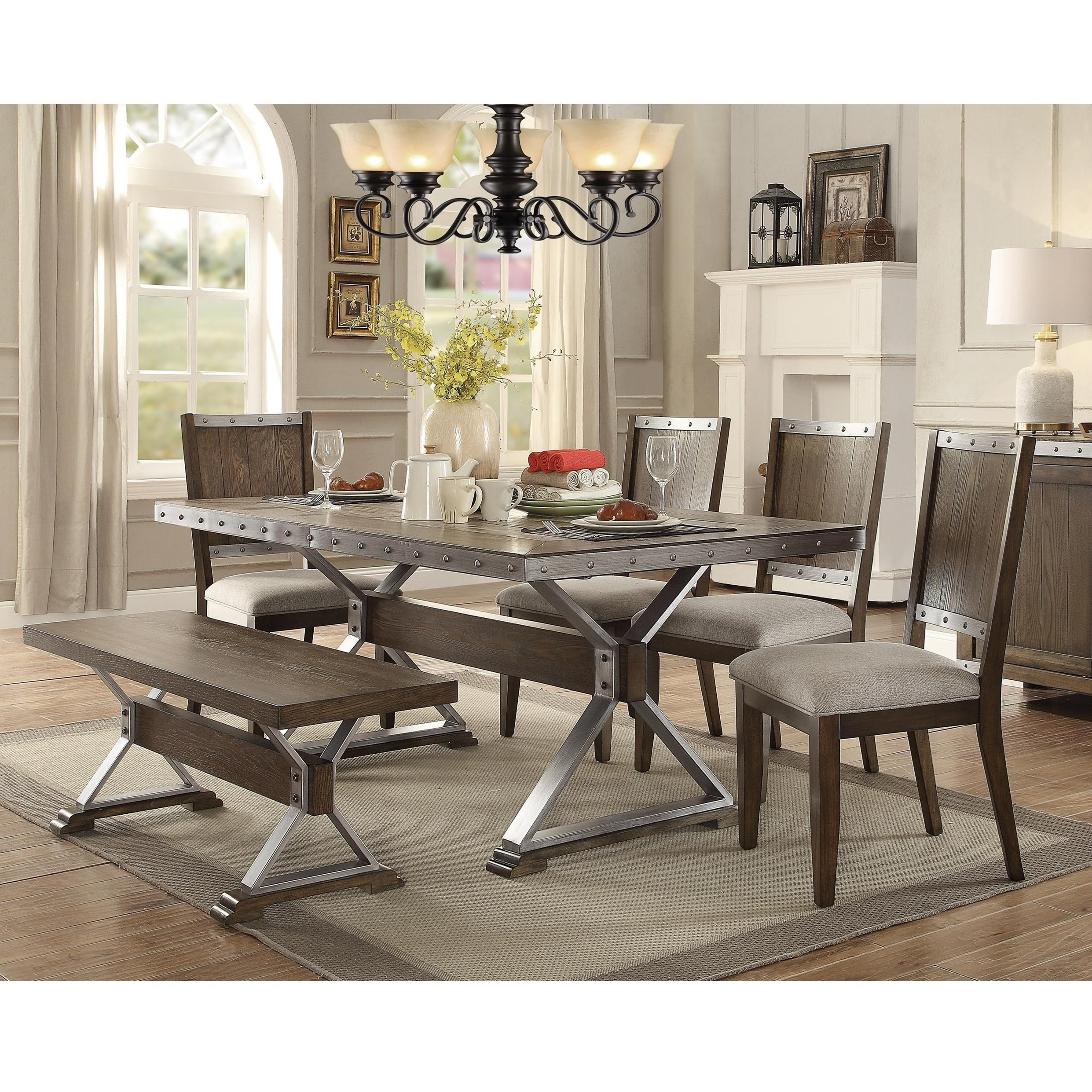 Coaster Beckett Table And Chair Set   Item Number: 107011+4x107012+107013