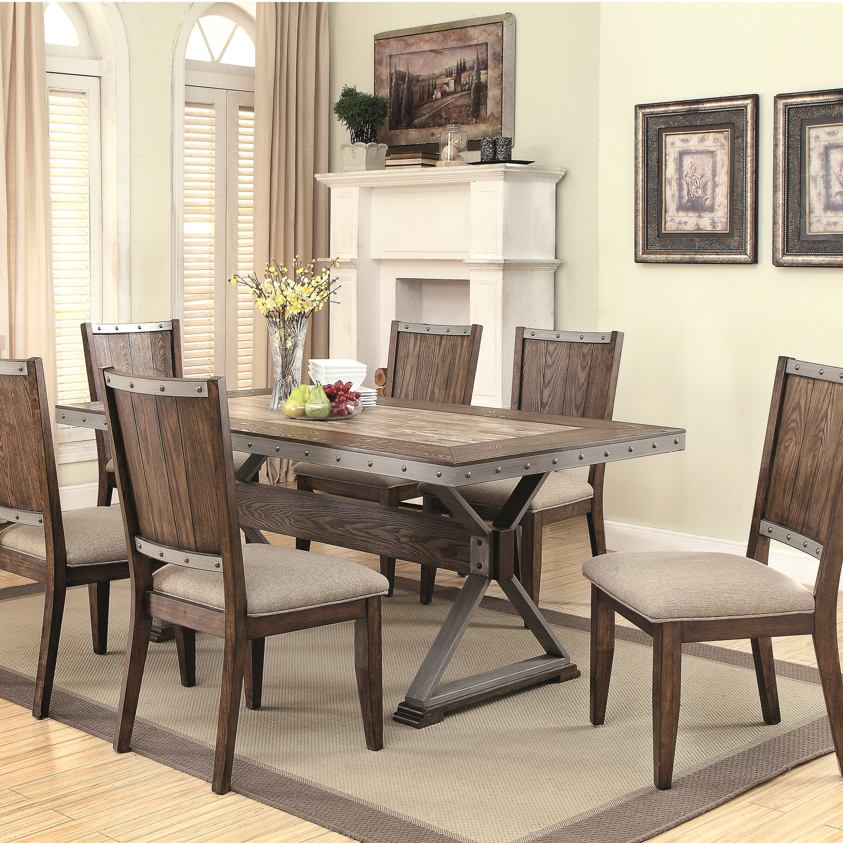 Coaster Beckett 7 Piece Table Set Northeast Factory Direct Dining 7 Or More Piece Sets