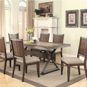 Coaster Beckett 7 Piece Table Set