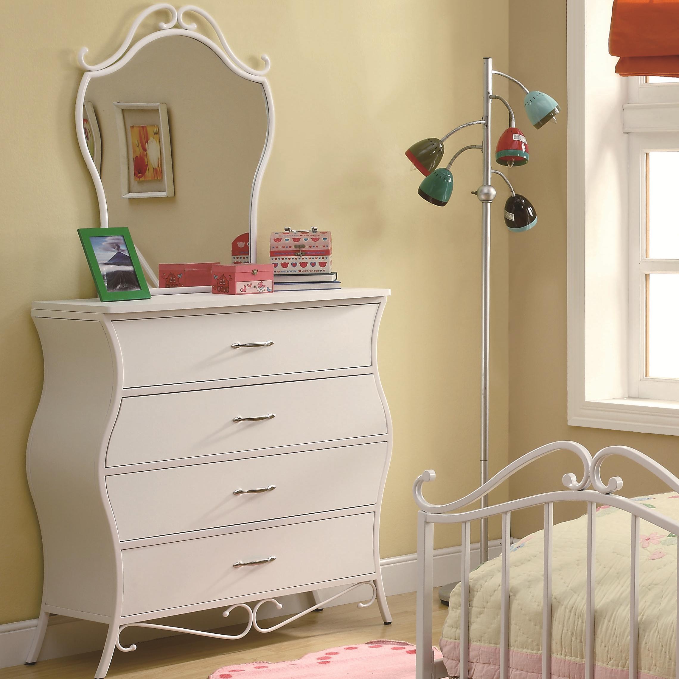 Coaster Bella Dresser & Mirror - Item Number: 400523+24