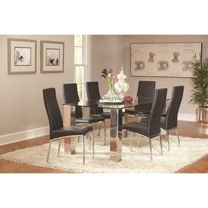 Coaster Bellini Dining Table and Chair Set