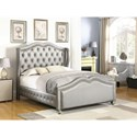 Coaster Belmont Eastern King Upholstered Bed with Tufted Wing Headboard