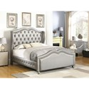 Coaster Belmont Queen Upholstered Bed with Tufted Wing Headboard
