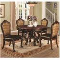 Coaster Benbrook Dining Table and Chair Set - Item Number: 105510+4x105512