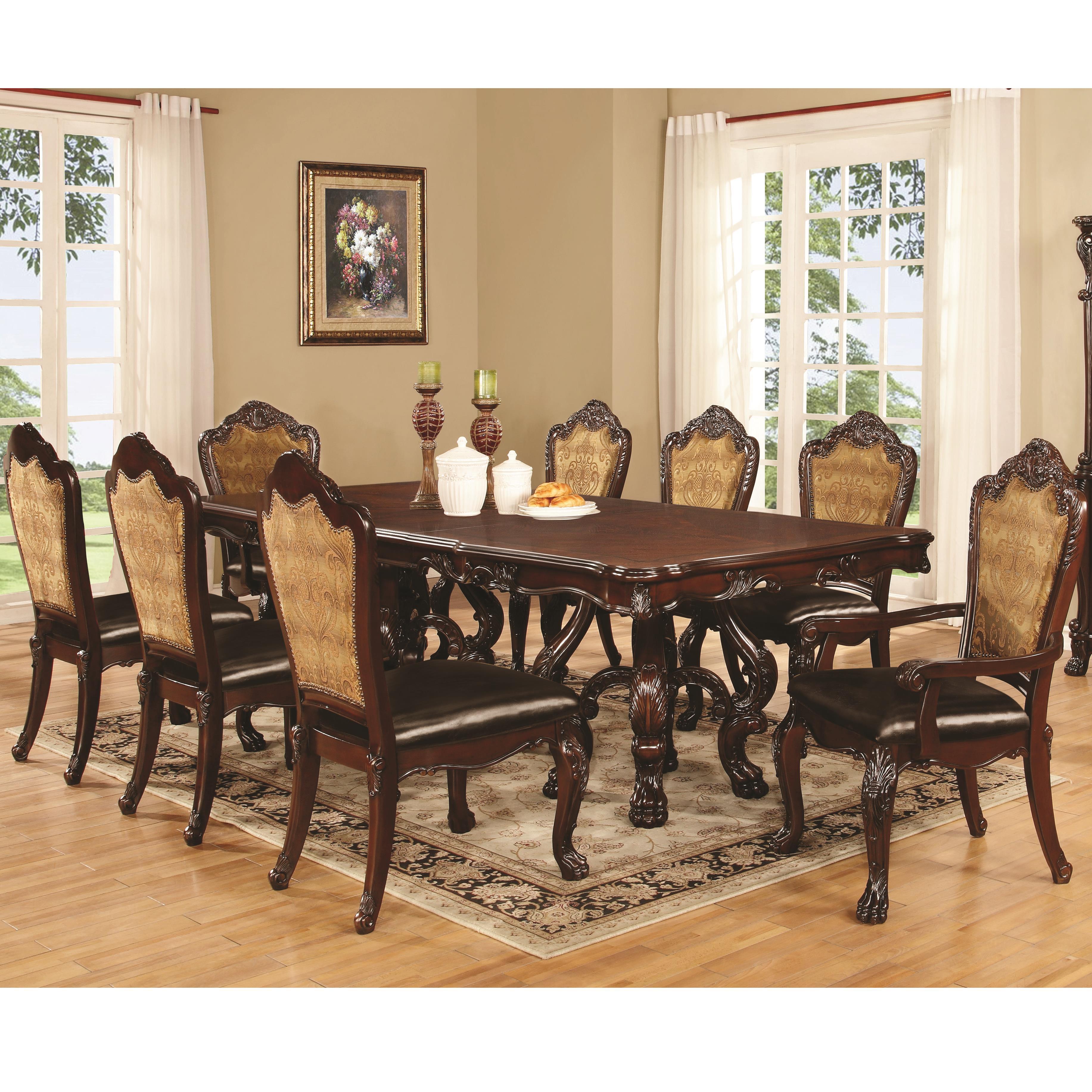 Coaster Benbrook Dining Table - Item Number: 105511+2x105513+6x105512
