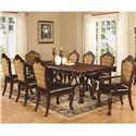 Coaster Benbrook Dining Table and Chair Set with 8 Chairs