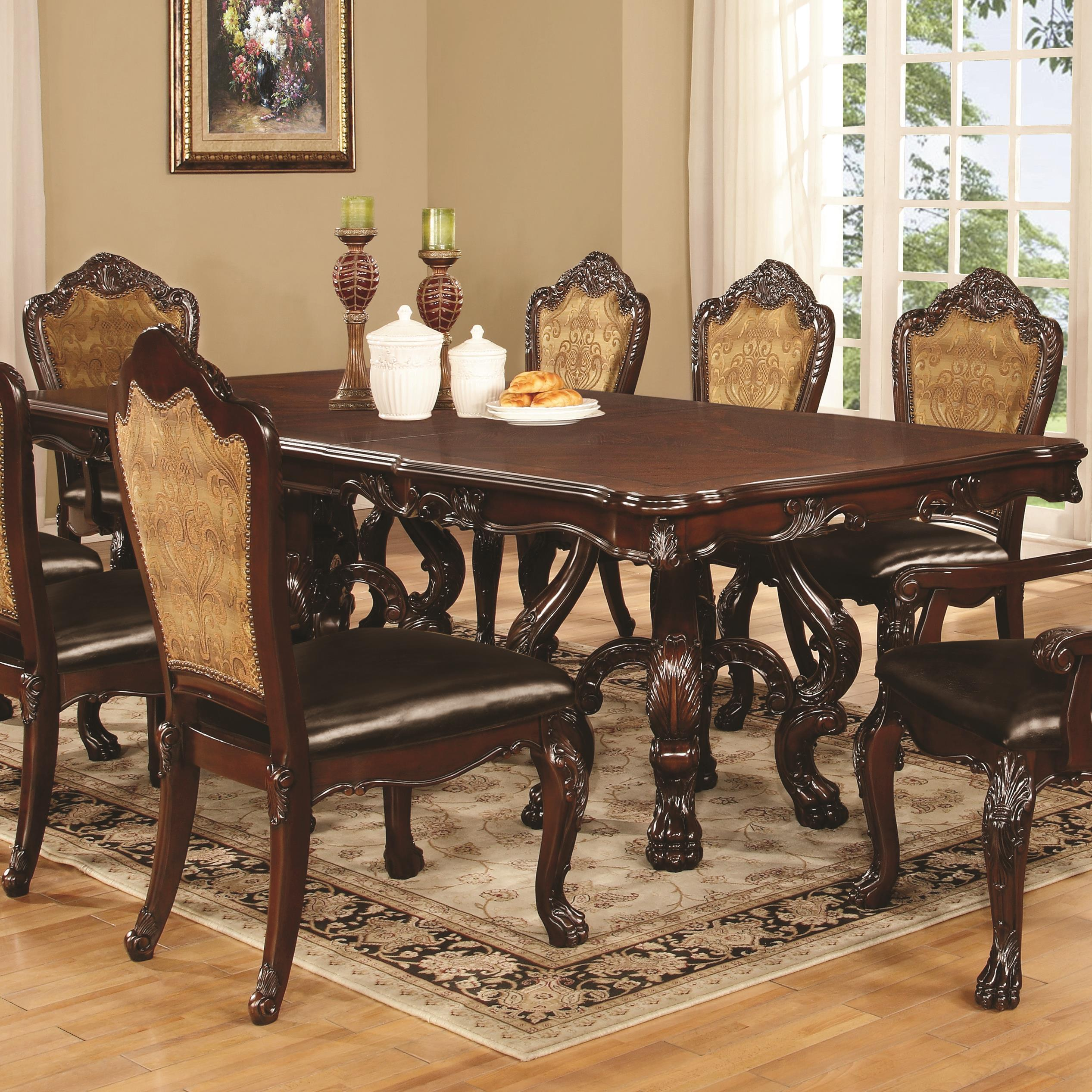 Coaster Benbrook Dining Table with Claw Feet - Item Number: 105511