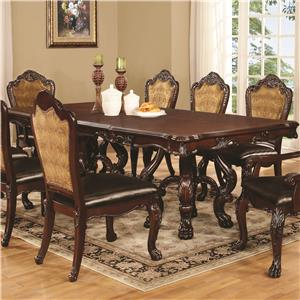 Coaster Benbrook Dining Table with Claw Feet