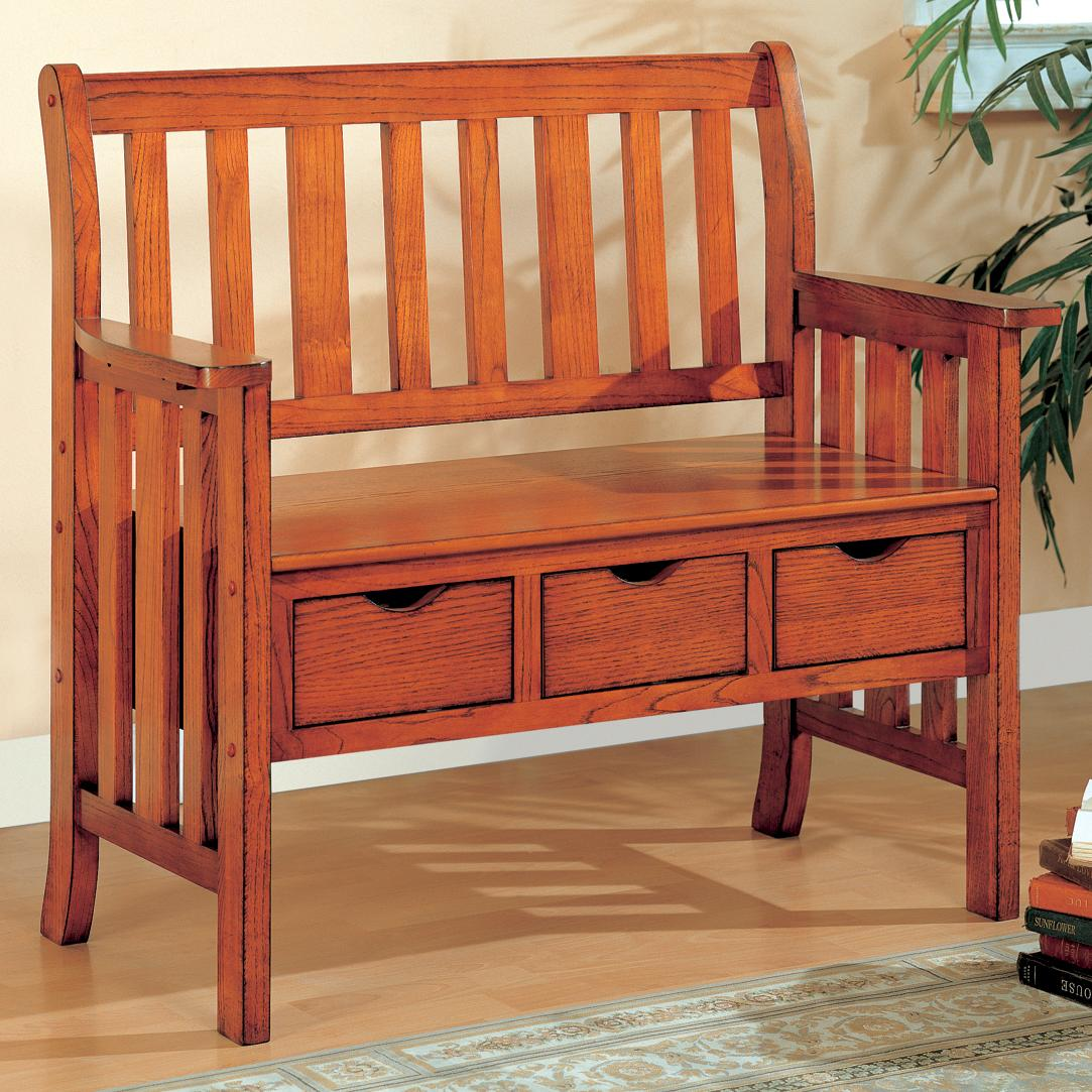 Coaster Benches Three Drawer Storage Bench A1 Furniture