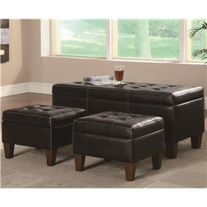 Coaster Benches 3 Piece Bench Set