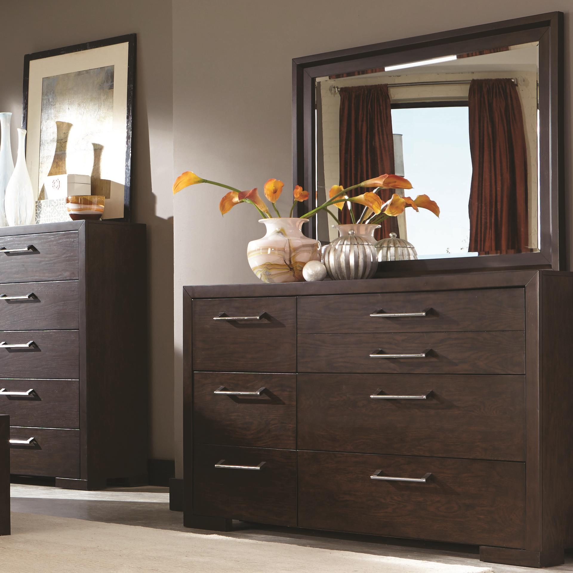 Coaster Berkshire Dresser and Mirror - Item Number: 204463+204464