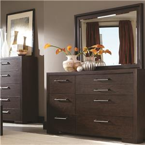 Coaster Berkshire Dresser and Mirror