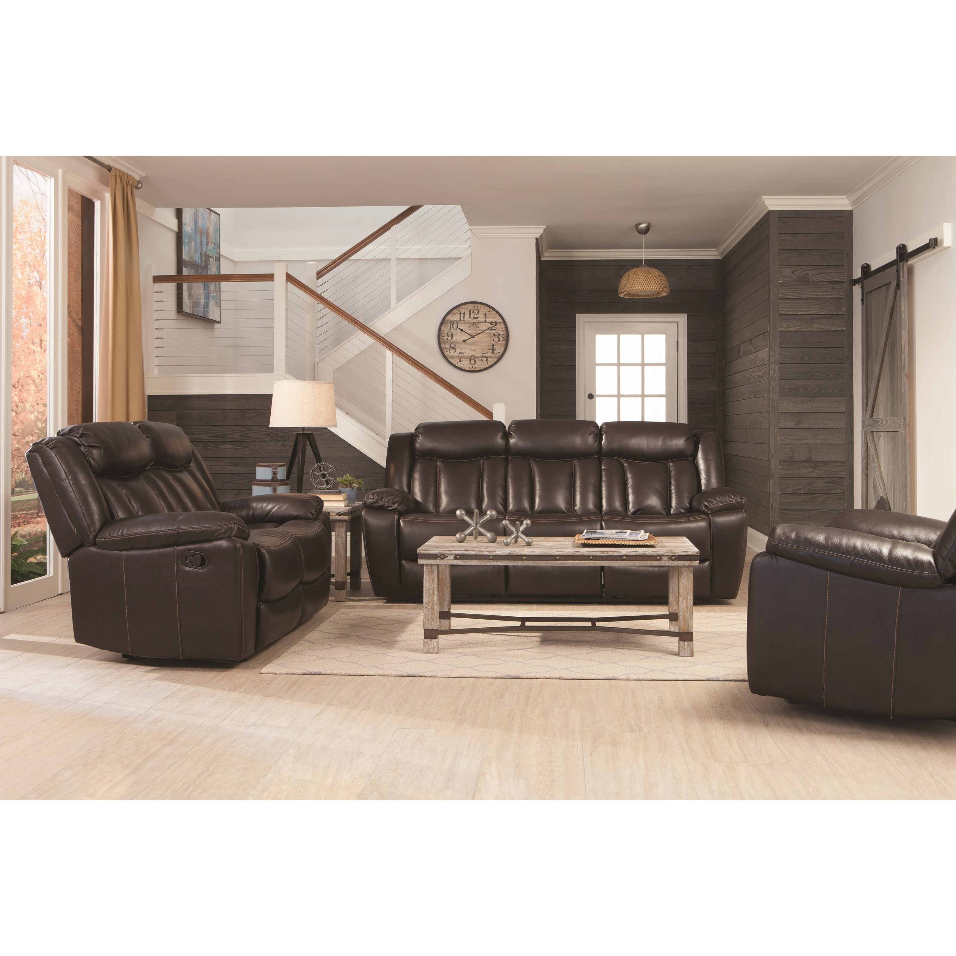 Coaster Bevington Reclining Living Room Group - Item Number: 602040 Living Room Group 1