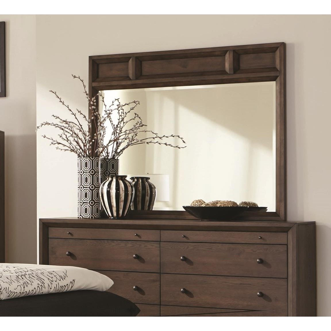 Coaster Bingham Mirror with Wood Frame - Item Number: B259-04