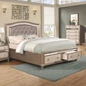Coaster Bling Game Upholstered Queen Bed - Item Number: 204180Q