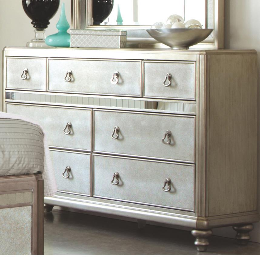Coaster Bling Game Dresser with 7 Drawers - Item Number: 204183