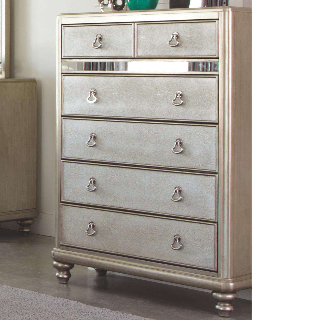 Coaster Bling Game Chest with 6 Drawers - Item Number: 204185