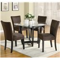 Coaster Bloomfield Microfiber Parson Side Chair - Shown with Round Table