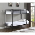 Coaster Boltzero Twin Over Twin Bunk Bed - Item Number: 460471T