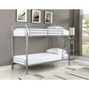 Coaster Boltzero Twin Over Twin Bunk Bed - Item Number: 460472T