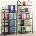 Coaster Bookcases Casual Metal Bookcase - Shown with Smaller Bookcase
