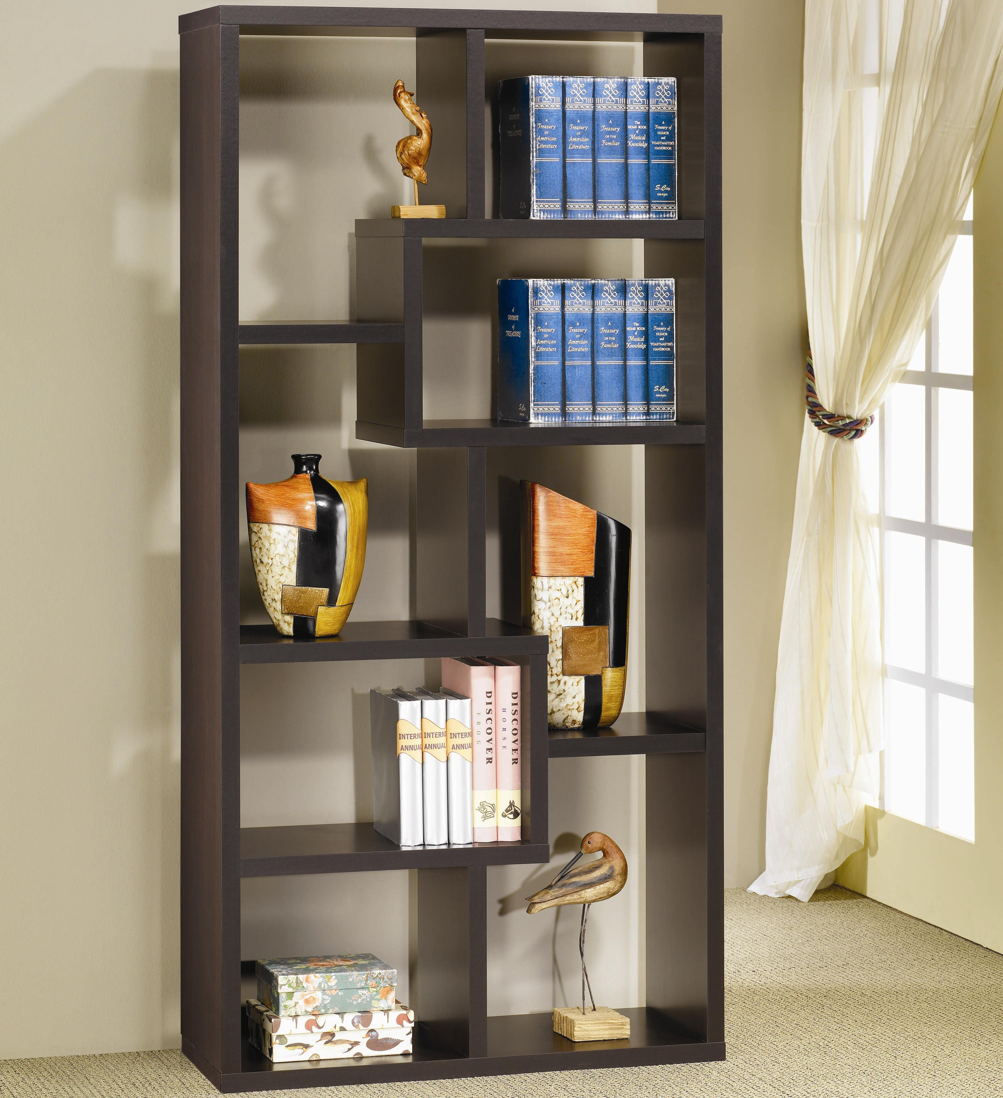 Coaster Bookcases Bookcase, Cappuccino - Item Number: 800264