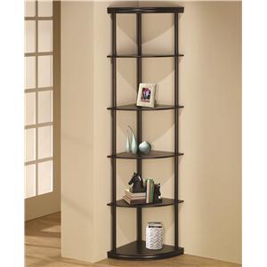 Coaster Bookcases Corner Bookshelf