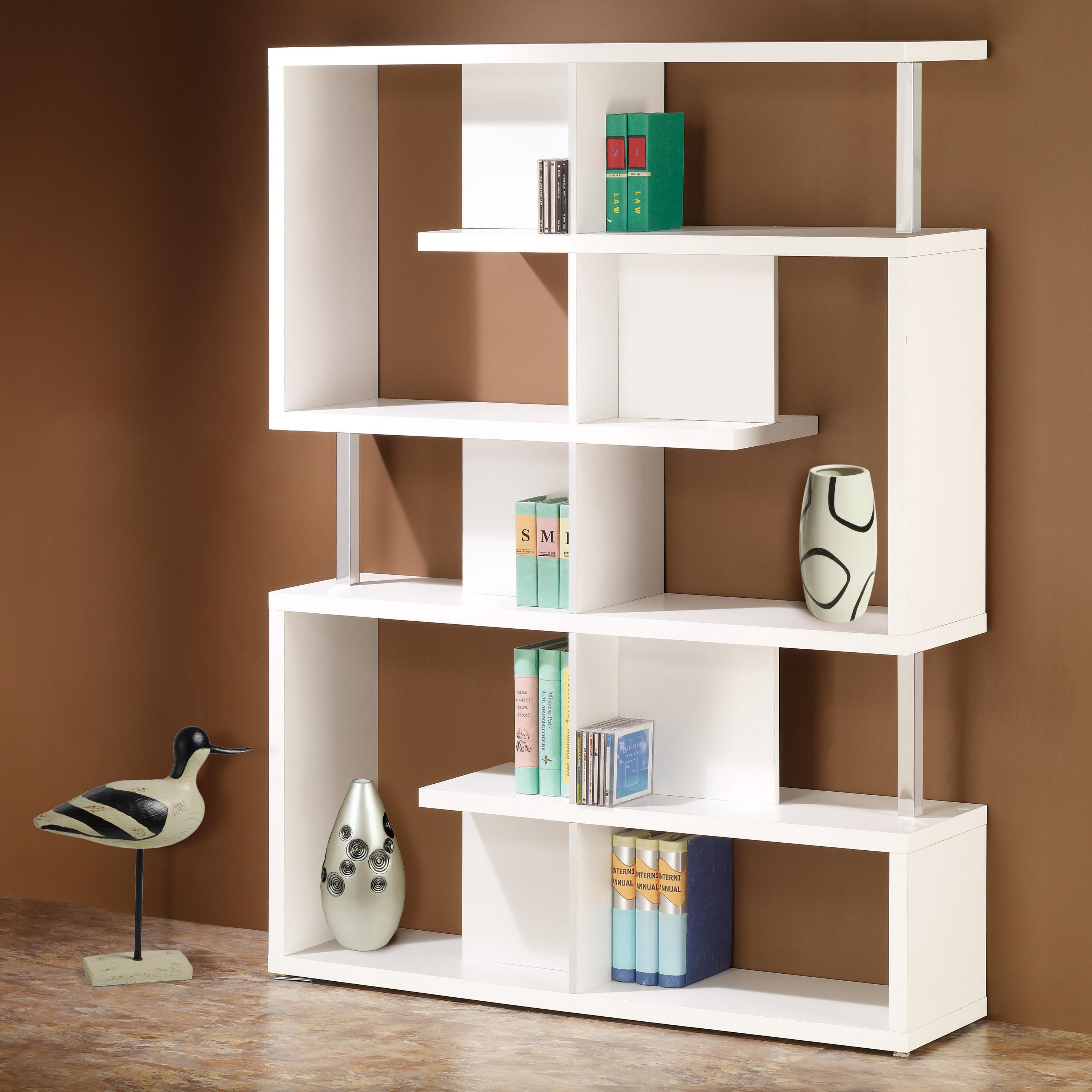 Value City Furniture Living Room Sets >> Coaster Bookcases Modern White Finish Bookcase | Value City Furniture | Open Bookcases