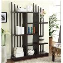 Coaster Bookcases Contemporary Open Bookshelf with Staggered Shelves and Slats