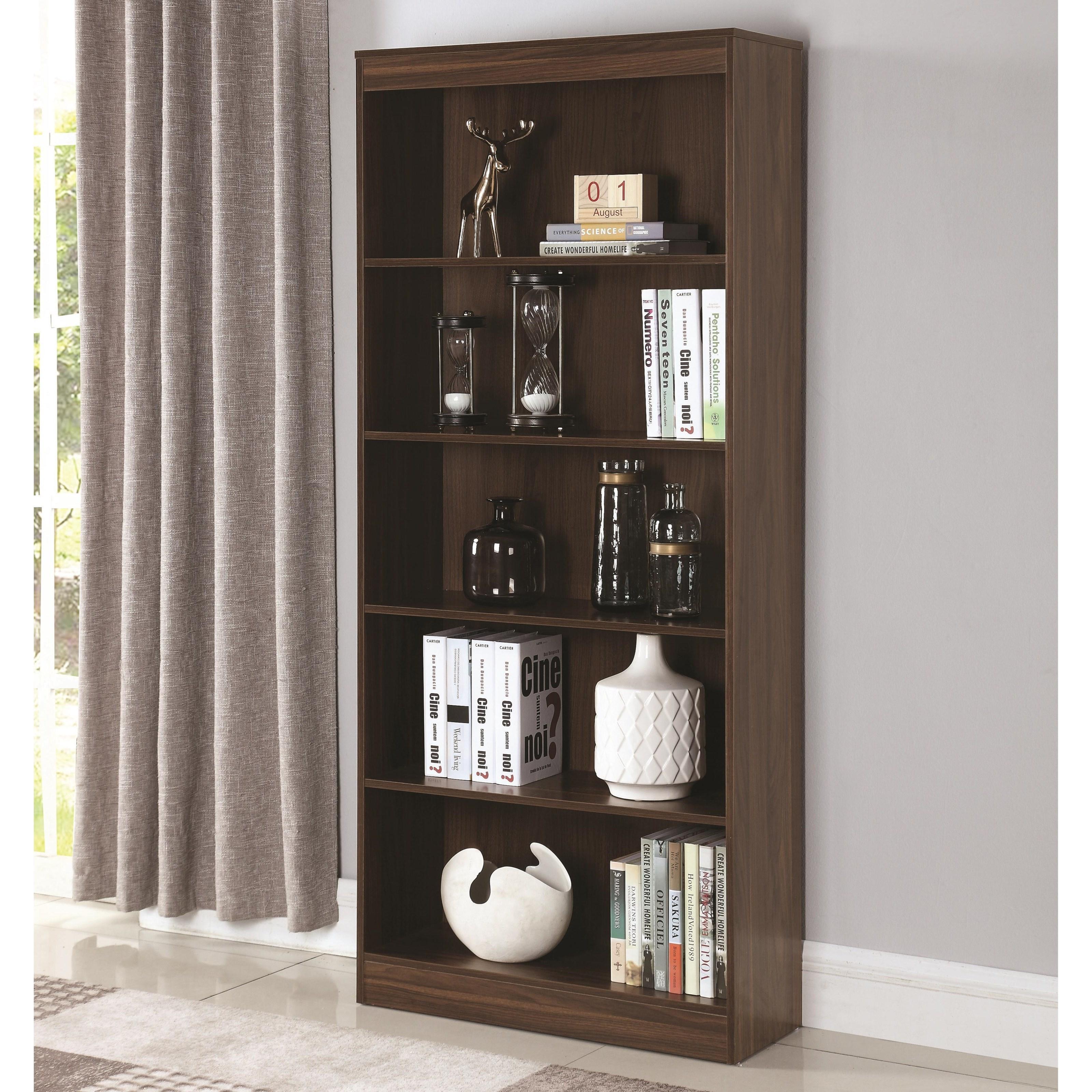 Coaster Bookcases 801808 5 Shelf Transitional Bookcase Dunk