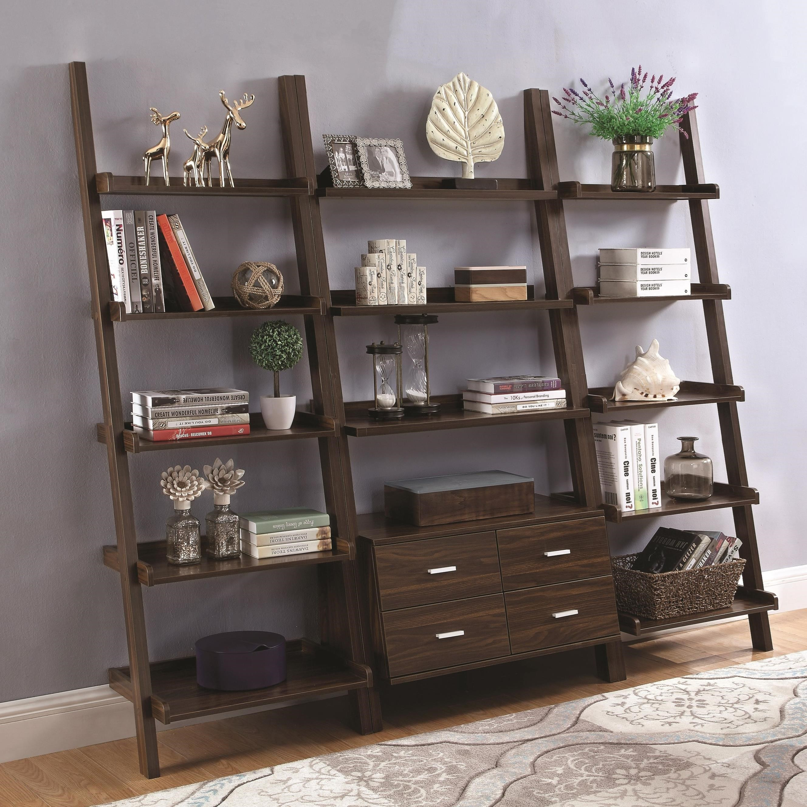 Ladder Bookcase Set
