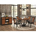 Coaster Boyer Casual Dining Room Group - Item Number: 102091+4x102092+102096