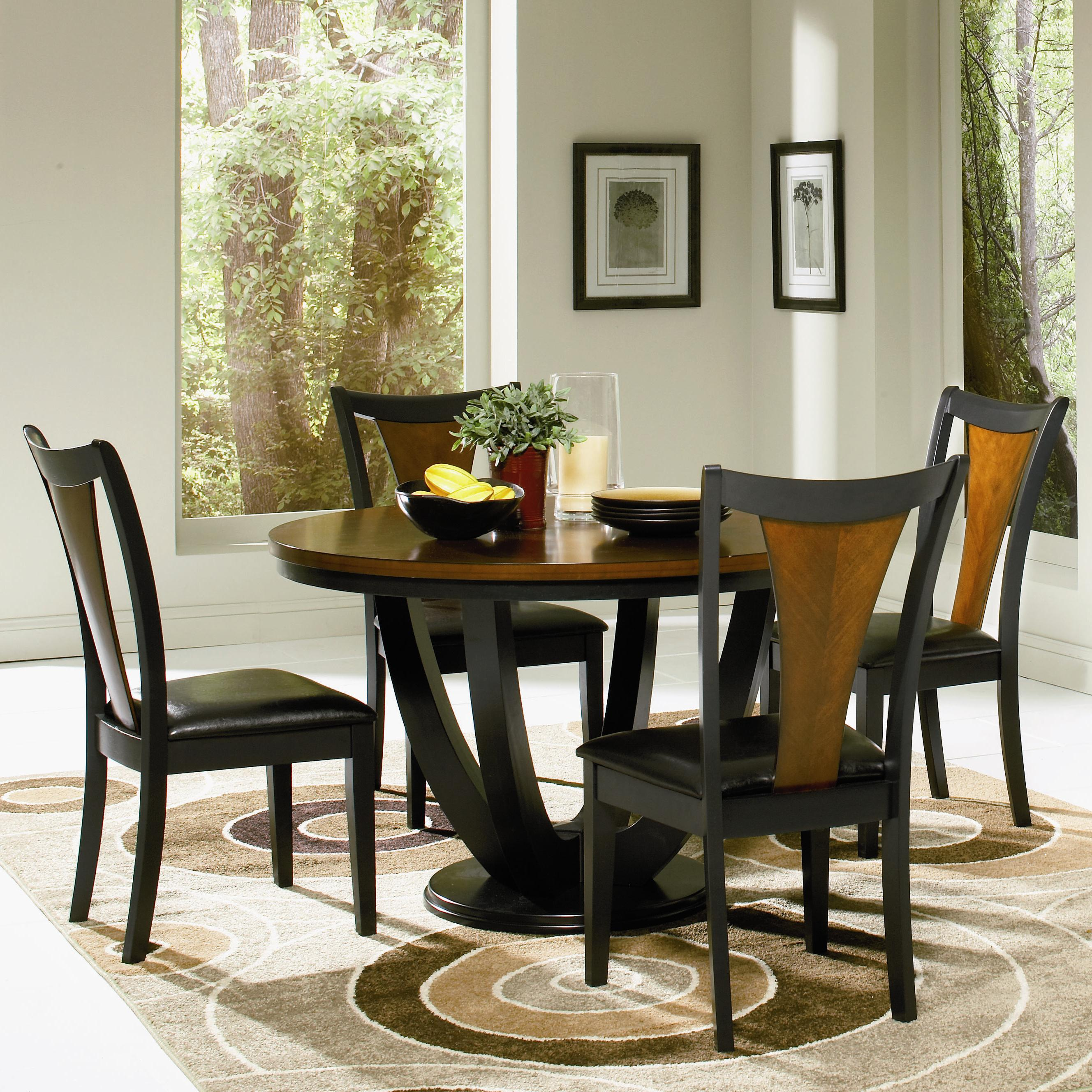 Coaster Boyer 5 Piece Table and Chair Set - Item Number: 102091+4x2