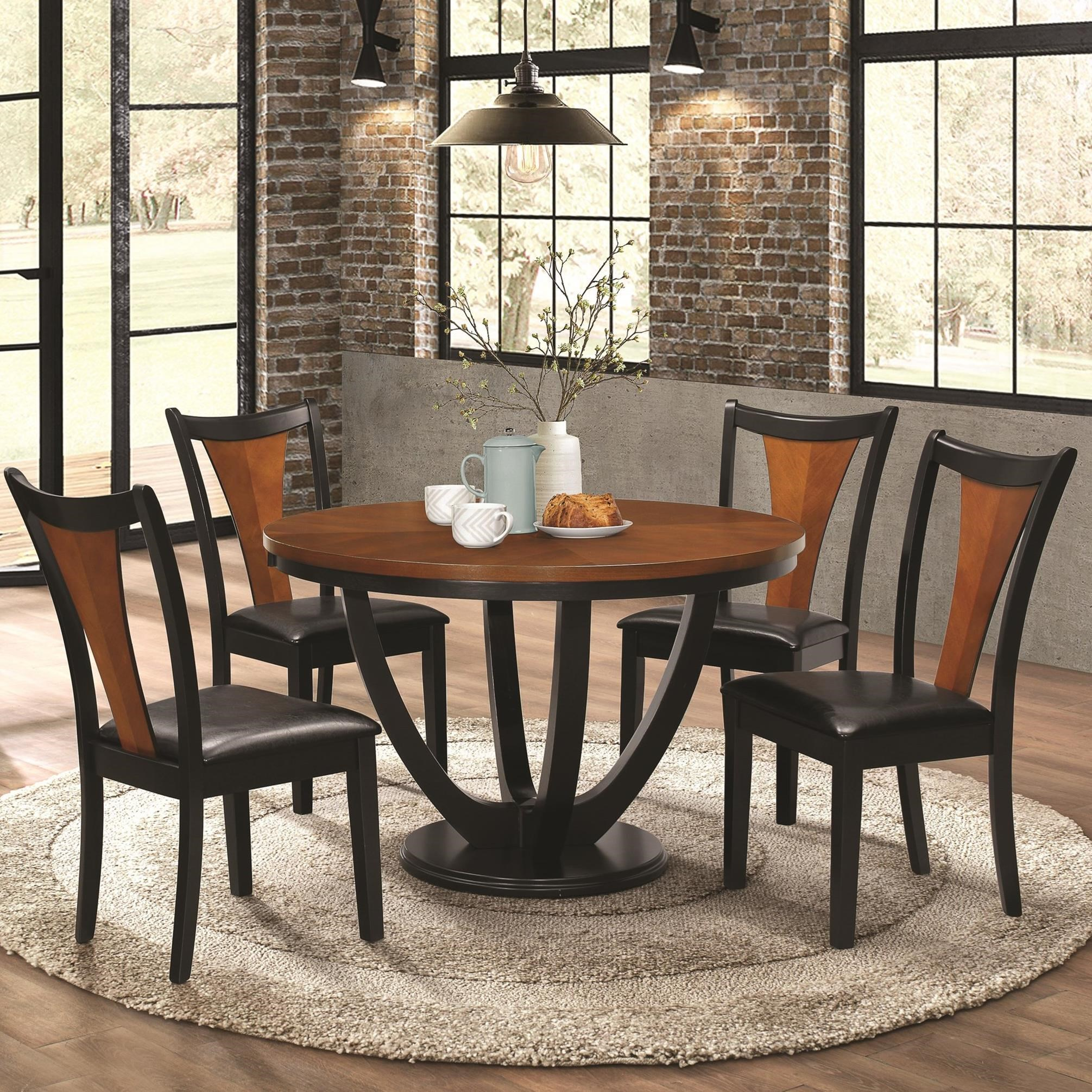 Standard Furniture Cosmo 5 Piece Round Coffee Table Set W: Fine Furniture Boyer Contemporary 5 Piece Table And Chair