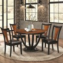Coaster Boyer Contemporary 5 Piece Table and Chair Set with Two-Tone Finish - 102091+4x2