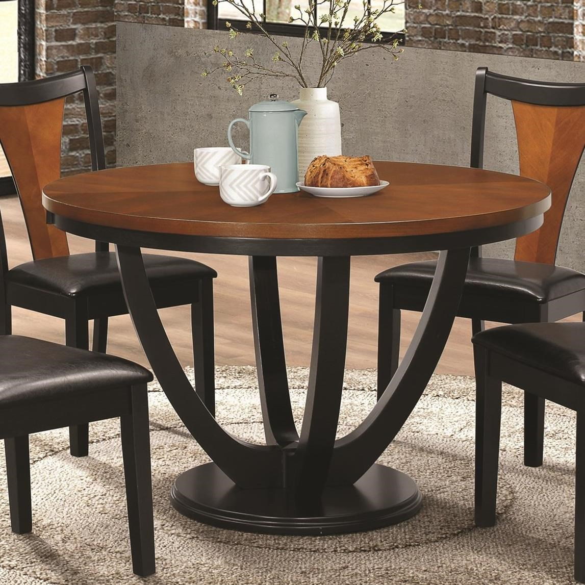 Kitchen Tables Furniture: Fine Furniture Boyer 102091 Contemporary Two-Tone Round
