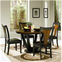 Coaster Boyer Round Contemporary Table - Shown with Side Chairs