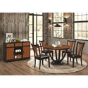 Coaster Boyer Contemporary Two-Tone Round Table - 102091