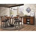 Coaster Boyer Casual Dining Room Group - Item Number: 102098+4x102099+102096