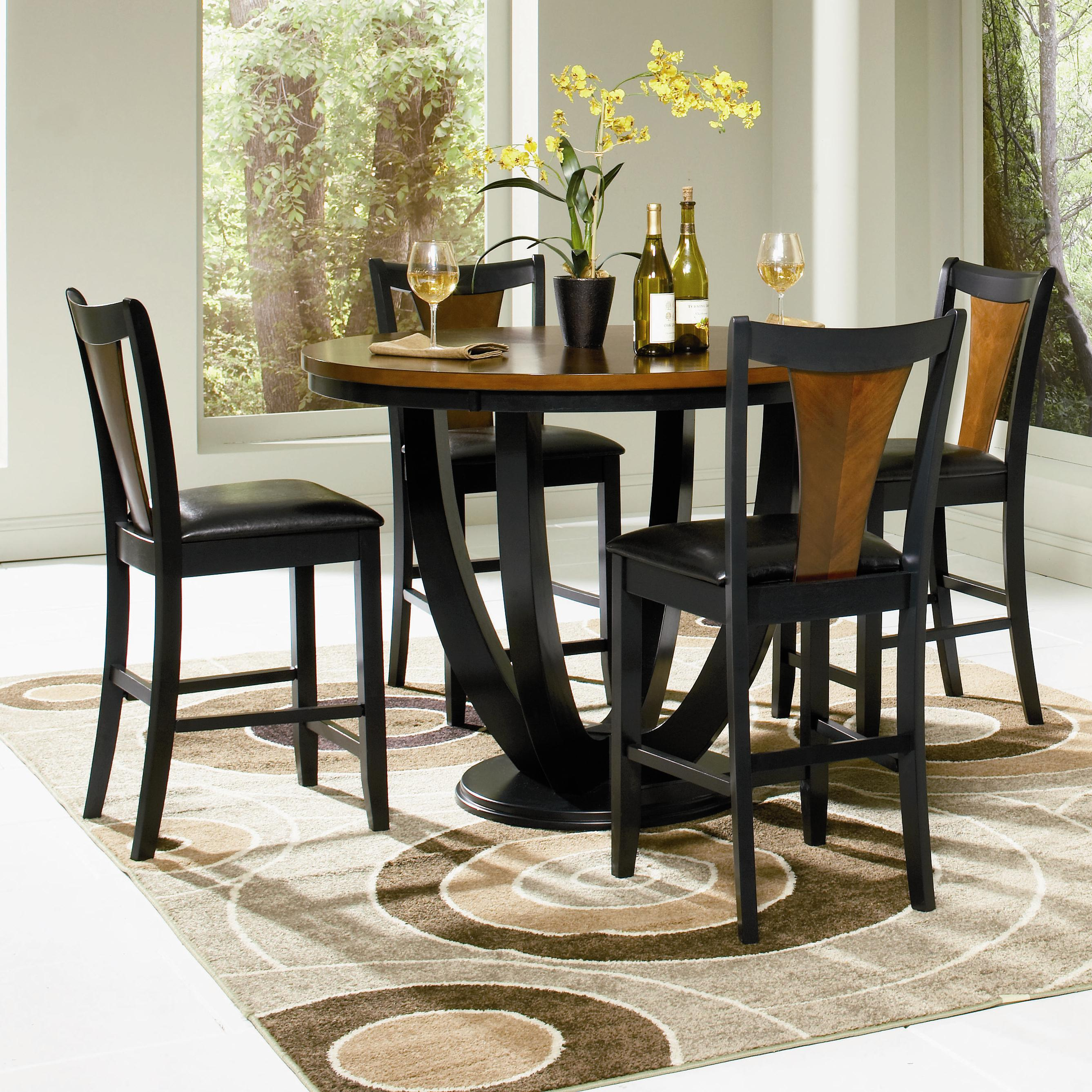 Coaster Boyer 5 Piece Counter Table and Chair Set - Item Number: 102098+4x9