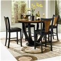 Coaster Boyer 5 Piece Counter Height Table and Chair Set