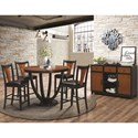 Coaster Boyer Contemporary 5 Piece Counter Height Table and Chair Set - 102098+4x9