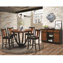 Coaster Boyer Contemporary Counter Height Table with Butterfly Top - 102098