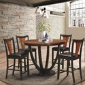 Coaster Boyer 24 Inch Bar Stool - Shown with Table and Server