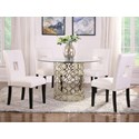 Coaster Bradshaw 5-Piece Dining Table Set - Item Number: 108851+4x103612WHT