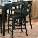 Coaster Pines Counter Height Chair - Item Number: 101039BLK