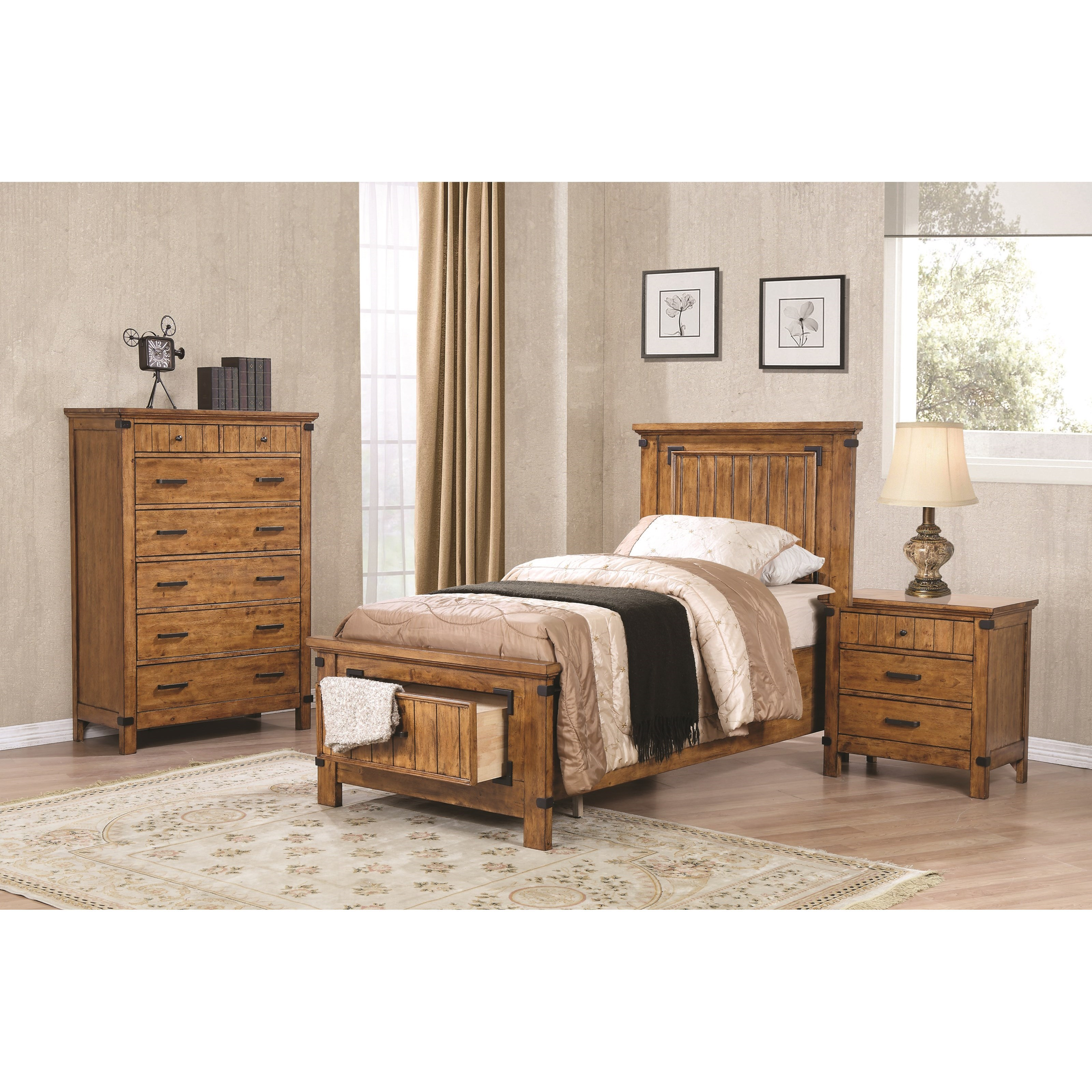 Coaster Brenner Twin Bedroom Group - Item Number: 205260 T Bedroom Group 4