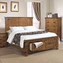Coaster Brenner King Storage Bed with Dovetail Drawers