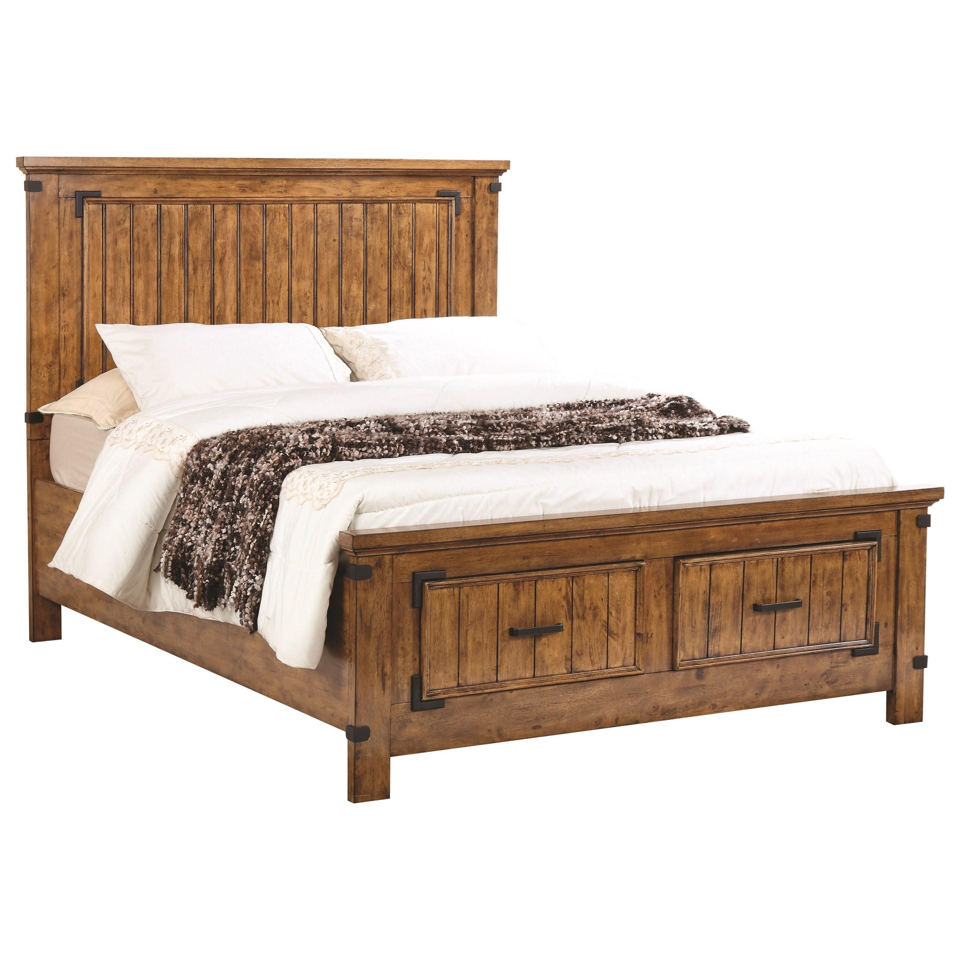 Coaster brenner 205260kw california king storage bed with dovetail drawers dunk bright - Cal king bed with drawers ...