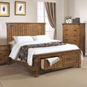 Coaster Brenner California King Storage Bed with Dovetail Drawers